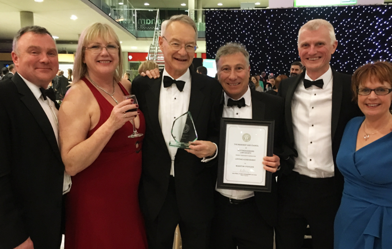Rotheras staff enjoy black tie event honouring Martin Foulds lifetime achievement award